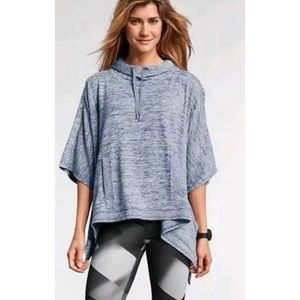 Athleta Blissful Techie Hooded Poncho Sweatshirt